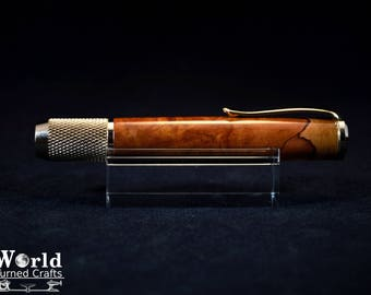 Chalk Holder in Gold and Fruitless Pear Wood