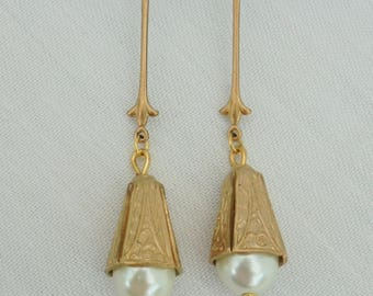Art Nouveau - Art Deco - Edwardian - Bridal Earrings
