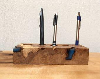 Desk Organizer / Desk Caddy / Brush Holder / Make Up Holder