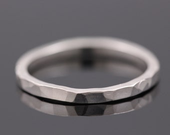 Silver stack ring, Silver ring, Stack ring, Thin silver ring, Simple silver ring, Stack silver ring, Silver hammered ring, dainty ring, gift