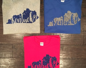 Kentucky Shirt // Kentucky State Tee // Sparkly