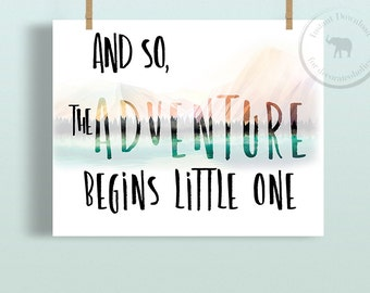 Adventure Print - Boys Nursery Decor - Nursery Art - Instant Download - Nursery Print - Nursery Printables - Printable - Prints for Boys