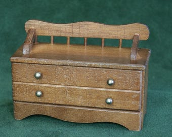 Miniature Wood Chest/Bench/Blanket Chest
