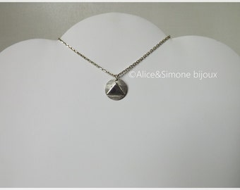 Triangle pendant in sterling silver necklace / handcrafted.