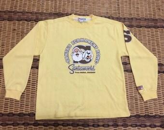 Vintage 90's Santa World Classic Design Skate Sweat Shirt Sweater Varsity Jacket Size L #A612