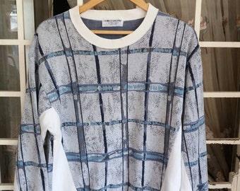 Vintage Cerruti 1881 sport sweatshirt block design/italy design/fashion/hiphop/medium