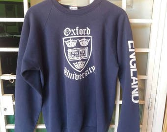 Vintage 90s University Oxford of london spellout/blue/xl/made in usa