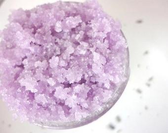 Lavender Sugar Body Scrub with essential Oils  8 oz.