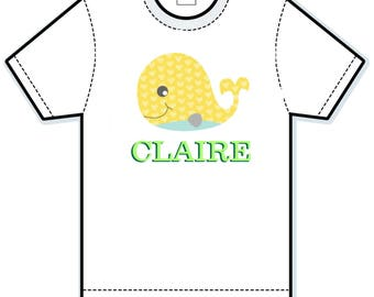 Yellow Whale personalized shirt