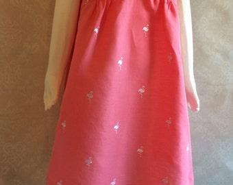 Size 8 Pink flamingo dress - Adore the Cloth