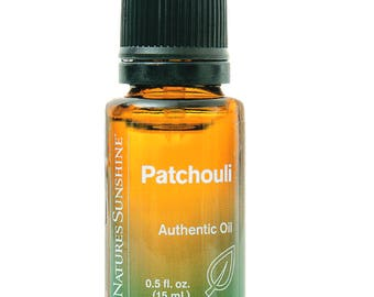 100% pure, PATCHOULI, Essential oil, Herbal, Calm, Balance, Emotions, Skin Calming, Calms Skin Irritation, Aromatherapy, Nature's Sunshine