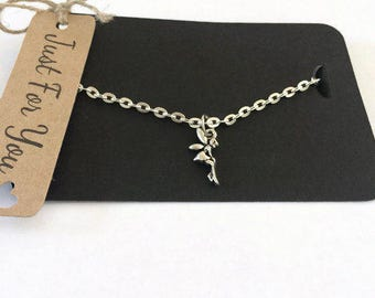 Fairy Silver Plated Necklace