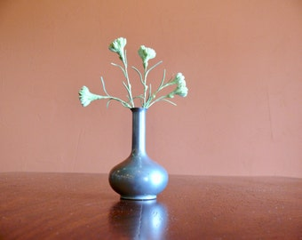 Royal Holland Pewter Bud Vase, Rustic Metal Vase, Mid Century Decor