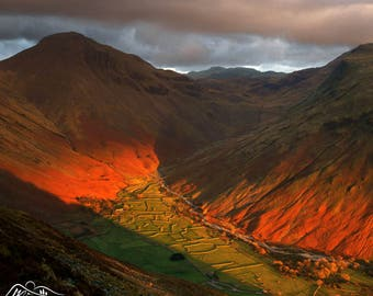 Great Gable above Wasdale Head -- Landscape Photography by M J Turner