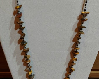 Tigers eye beaded necklace, beaded necklace, natural stone
