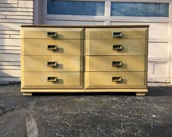 Vintage Mid Century Modern 8 Drawer Dresser by Raymond Loewy for Mengel