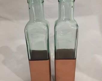 Pair of Copper-Dipped Vases