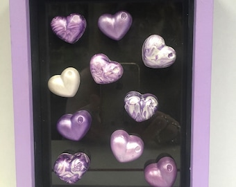 Purple Heart Shadow Box