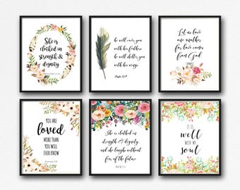 25 Prints - Bible Verse Printable Set - Instant Download