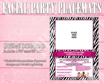 Facial Party Placemat | Zebra Print