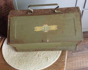 Primitive Metal Sewing Box