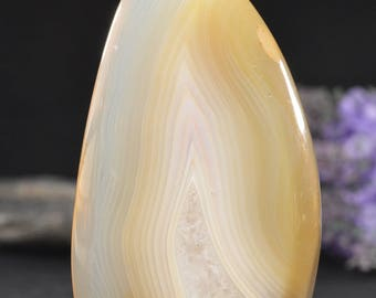 Best Polished Banded Agate Home Stone/Natural Colorful Picture Stone/Agate decor/display/art decoration/special gift-68*50*21mm 147g