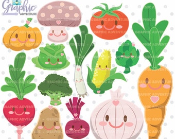 Vegetable clip art | Etsy
