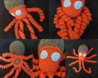 Octopus Octopus crocheted blanket