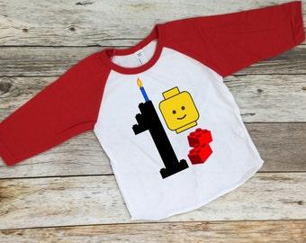 Lego Brix Birthday Tee.  Legoland Shirt. Lego Birthday Shirt.