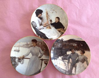 Set of 3 Coalport Collectable Plates.