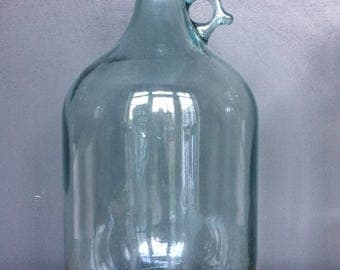 Vintage Blue/Green Glass DemiJohn