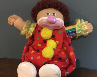 Vintage 1980's Clown Cabbage Patch with Tag Still Attached