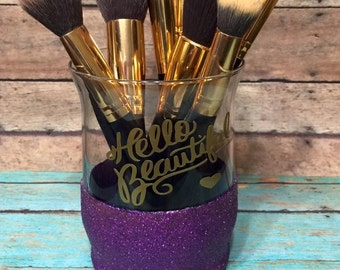 Glittered Makeup Brush Holder