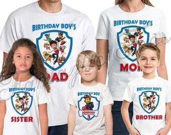 Paw Patrol Birthday Shirt Add Name & Age Personalized Paw Patrol Birthday Party TShirt 09