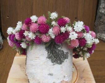 Dried Flower Crown, wedding wreath, Dried Flower Headband, Bridal Crown, Rustic head wreath, Floral Head Wreath, dried flower,rustic wedding