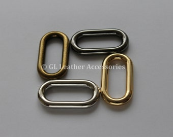 4 x 46.7mm Heavy Duty Oval Ring Metal Loop 4 Colors