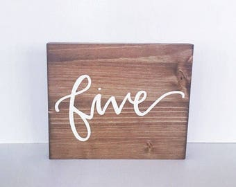 Wood sign wedding wooden sign table number sign written number sign wedding decor decorations party decorations rustic decor wedding numbers