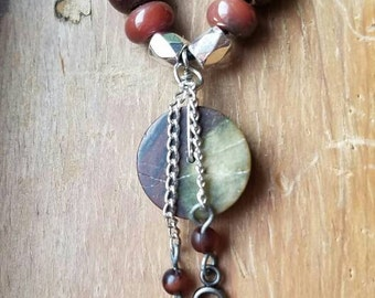 Earth Pendant Charm Necklace