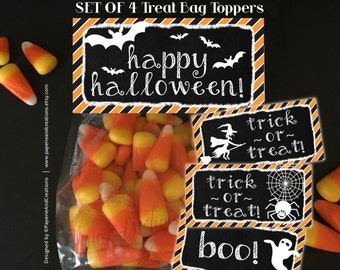 Halloween Treat Bag Toppers - Instant Download