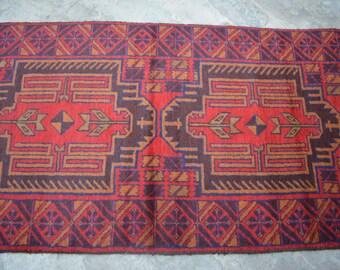9 x 2'5 FT Afghan Tribal Baluch rug runner