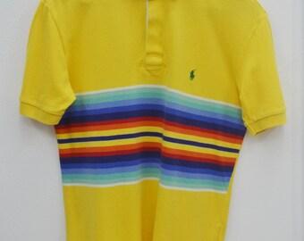 Polo Ralph Lauren Shirt Vintage Polo Ralph Lauren Multicolor Stripped Polo Tee T Shirt Size M