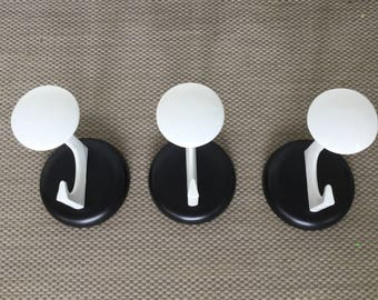 Set of 3 coat hooks 70s