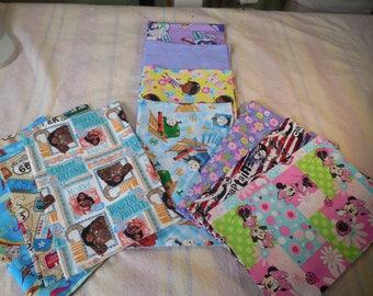 Travel Pillowcase-Size 12x16-Novelty Pillowcase-Character Pillowcase-Disney Pillowcase-Nickelodeon Character--Envelope Style-