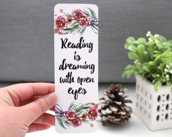 Reading Is Dreaming - Quotes Bookmark