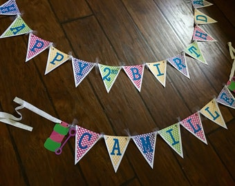 Bubble party large birthday banner
