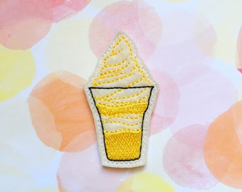 Pineapple Felties, Theme Park, Dole Treat, Ice Cream, Sweet Treat, Yellow Felties