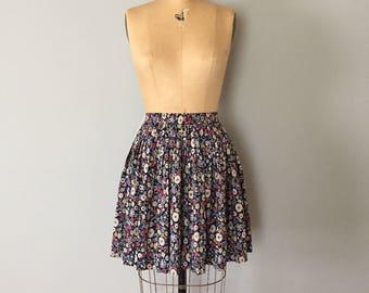 90s ESPRIT super flounce skirt | floral pleated mini skater skirt