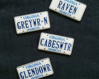 Raven Cycle License Plate Pins