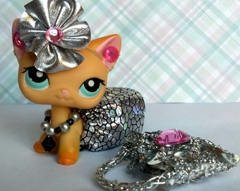Littlest Pet Shop LPS custom clothes accessories lot * Cat  not included *