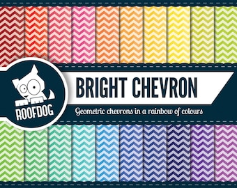 Digital paper Instant download | Chevron pattern rainbow | Digital scrapbook seamless background | printable paper clipart | commercial use